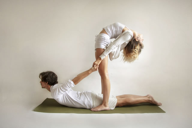 Partner Yoga Cobra Back Bend