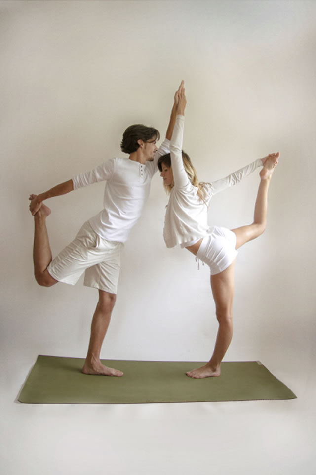 Partner Yoga Double Dancers Pose